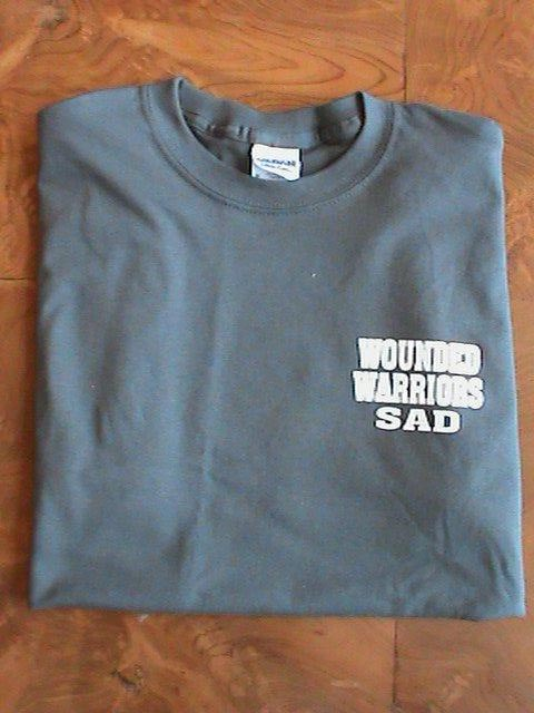 Wounded Warriors Sons and Daughters of America Gray T-shirt
