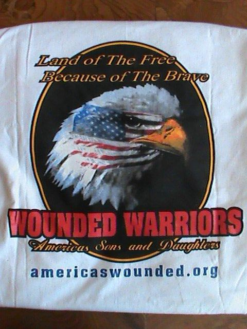 Back of White T-shirt Wounded Warriors SAD