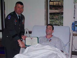 SSG Daniel Metzdorf Receiving Purple Heart ceremony 2004