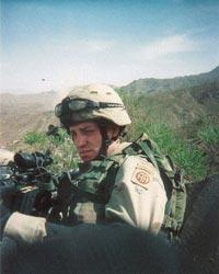 SGT Jepsen on patrol Afghanistan 2003