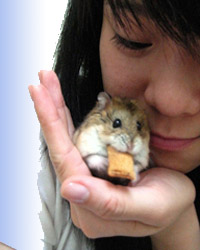 Even hamsters (like Buddy) have much to give in the way of love.